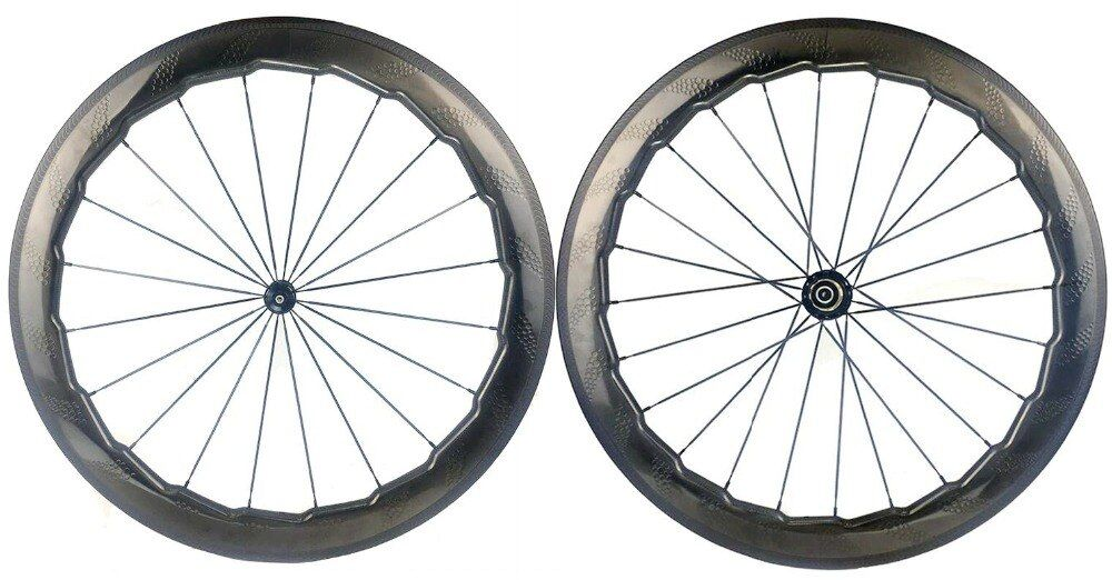 NSW454 dimple surface carbon wheels 58mm depth 25mm width clincher/Tubular carbon wheelset handtailor brake edge