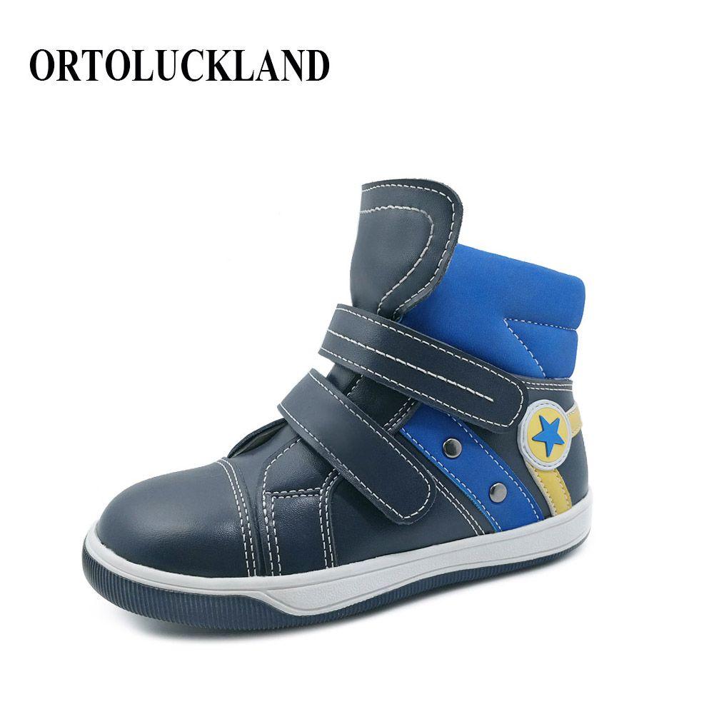 Neue Design Harte Sohle Kinder Sport Schuhe Orthopädische Laufschuhe Kinder Arch Unterstützung Turnschuhe Jungen Casual Schuhe