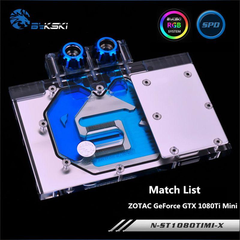 Bykski Full Coverage GPU Water Block For ZOTAC GeForce GTX 1080Ti Mini Graphis Card Radiator N-ST1080TIMI-X