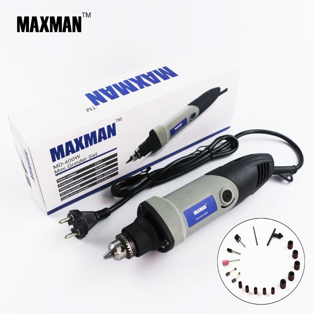 MAXMAN professionnel électrique Mini meuleuse Dremel outil 0.6 ~ 6.5mm mandrin vitesse Variable outil rotatif bricolage Multi outils électriques