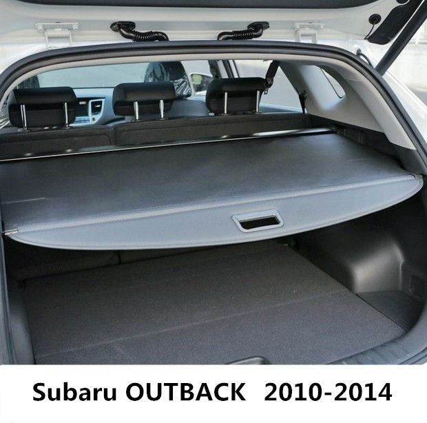 Car Rear Trunk Security Shield Cargo Cover For Subaru OUTBACK 2010 2011 2012 2013 2014 High Qualit Black Beige Auto Accessories