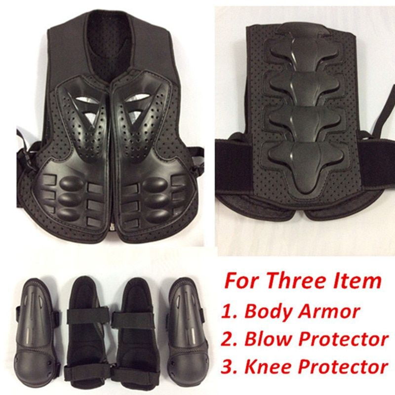 Adjustable Kids children body armor Jacket for motocross roller skating bicycle ride body chest knee blow protective accessories