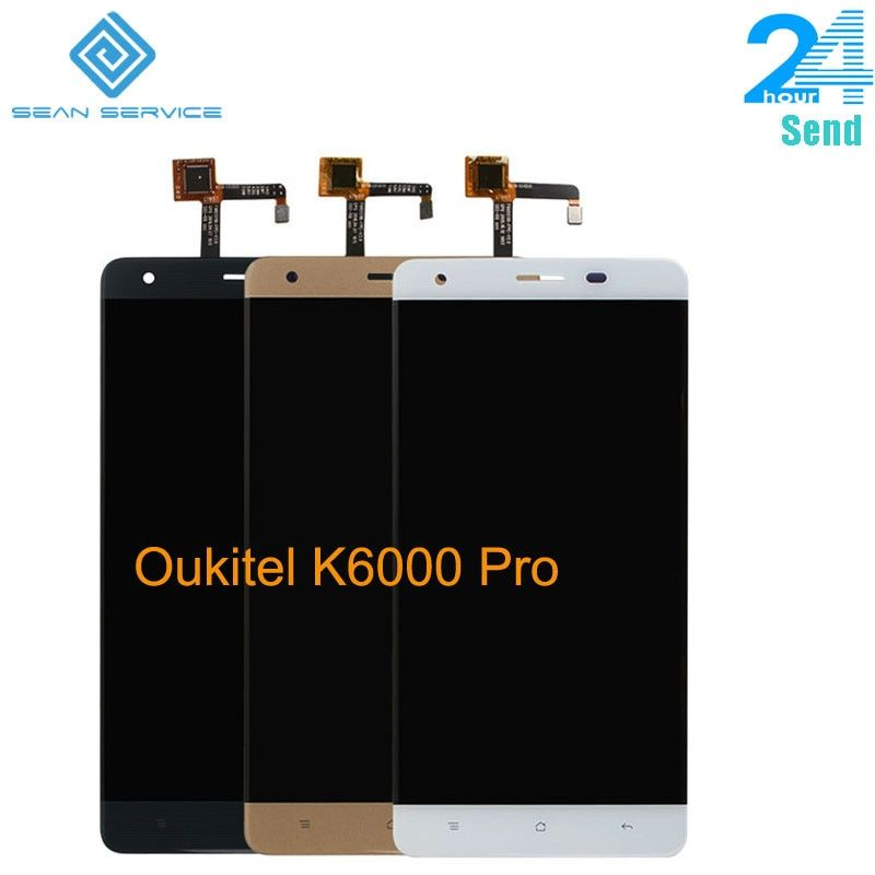 For Original Oukitel K6000 Pro LCD in Mobile phone LCD Display+Touch Screen Digitizer Assembly lcds +Tools 5.5