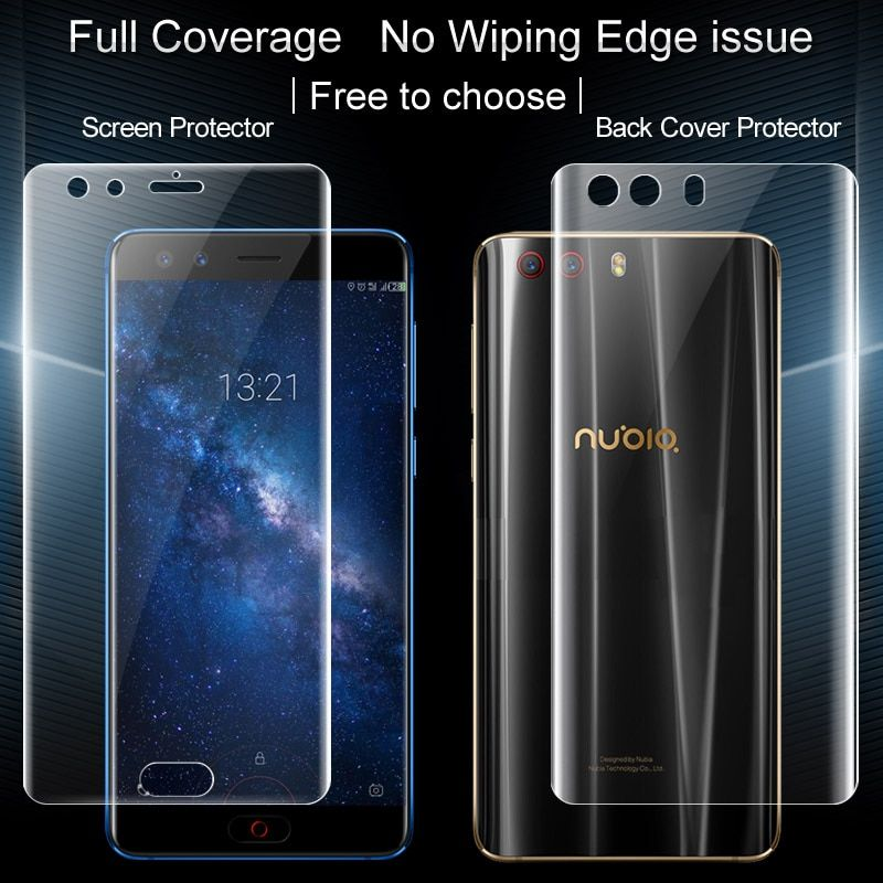 2PCS Full coverage for ZTE Nubia Z17 MINI S Z17 MINIS Screen protector and Back cover protector Imak All Standing Hydrogel Film