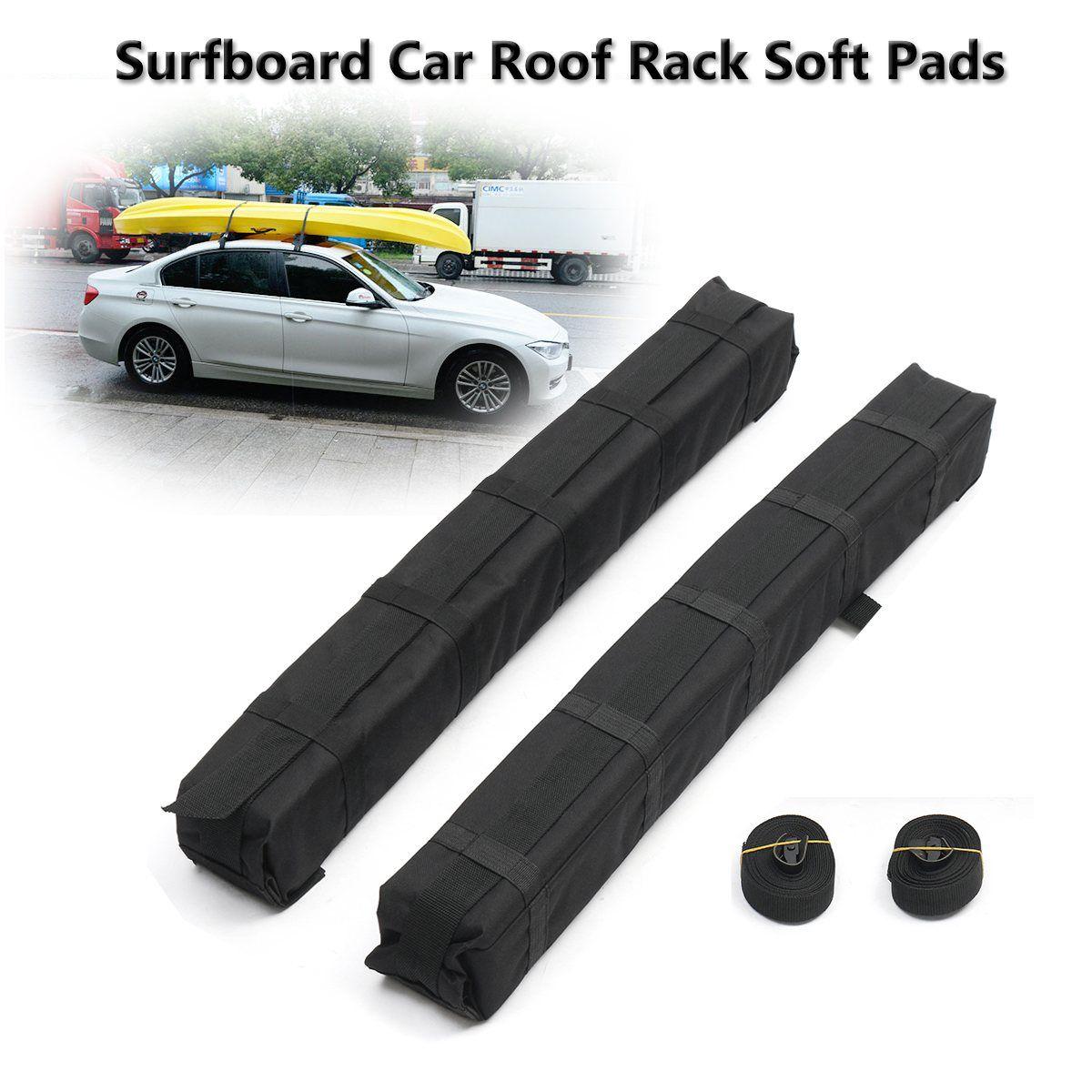 2pcs Universal Auto Soft Car Roof Rack Cross Bar Kayaks Surfboard Car Roof Rack EVA Soft Pads Outdoor Travel Luggage Carrier Bar