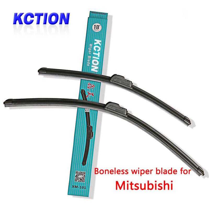 Car Windshield Wiper Blade For Mitsubishi ASX Lancer Outlander Pajero Colt L200 Galant Space Star,Natural rubber,Bracketless