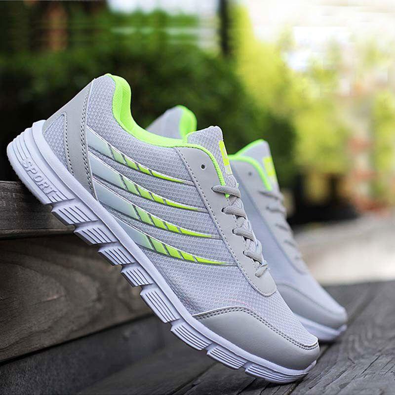 2018 fashion Men sneaker shoes Lightweight stripe Breathable Mesh canvas Casual Shoes new arrival shoes men