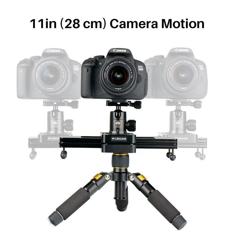 Max Load 5KG 28cm Mini Portable Slider System Camera Video Track Dolly Slider Rail System for DSLR Camera Nikon Canon Smartphone