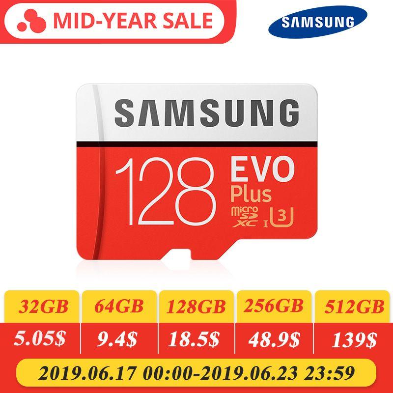 SAMSUNG Memory Card EVO 32G 95MB/S SDHC MicroSD 64GB 128GB 256GB 4K 100MB/s SDXC Class 10 Micro SD C10 UHS TF Trans Flash Cards