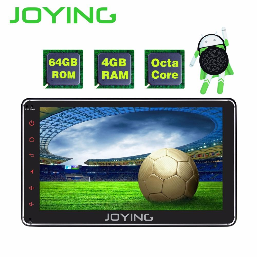 JOYING 4GB RAM 64GB ROM 1 din 7 inch Android 8.0 car radio stereo GPS audio Octa core HD head unit with carplay and android auto