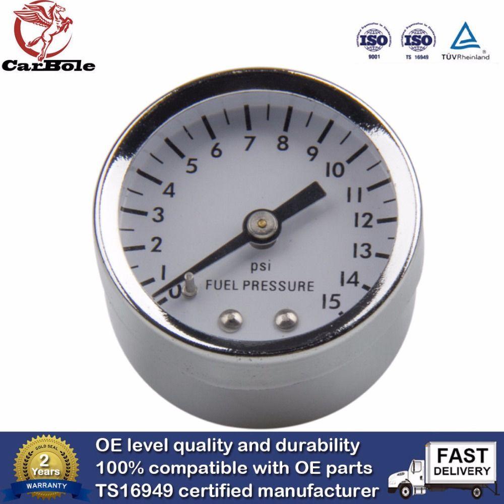 0-15 psi blanc visage analogique manomètres de carburant 1 1/2 en 1561 outil de diagnostic 15 livres réglable régulateur compatible