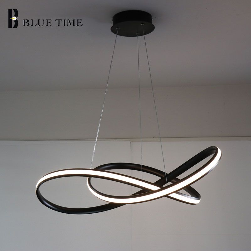 White/Black Modern LED Pendant <font><b>Light</b></font> For Living room Bedroom Dining room Hanging Lamp LED Pendant Lamp Home Lighting Led Lustre