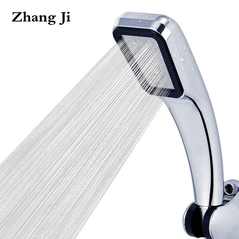 Top Qualität 300 Löcher Hochdruck Dusche Kopf Wasser Wassersparregen Chrom Dusche Kopf Badezimmer Platz Spray Düse Kopf ZJ001