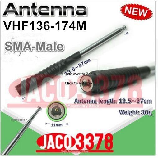 Télescopique VHF 136-174 MHz antenne pour suivi astro 320 antenne SMA mâle connecteur chasse de suivi antenne