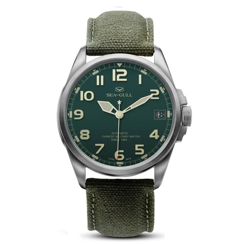 D813.518 Automatic Mechanical Men's Watch Self Winding(Green Dial)