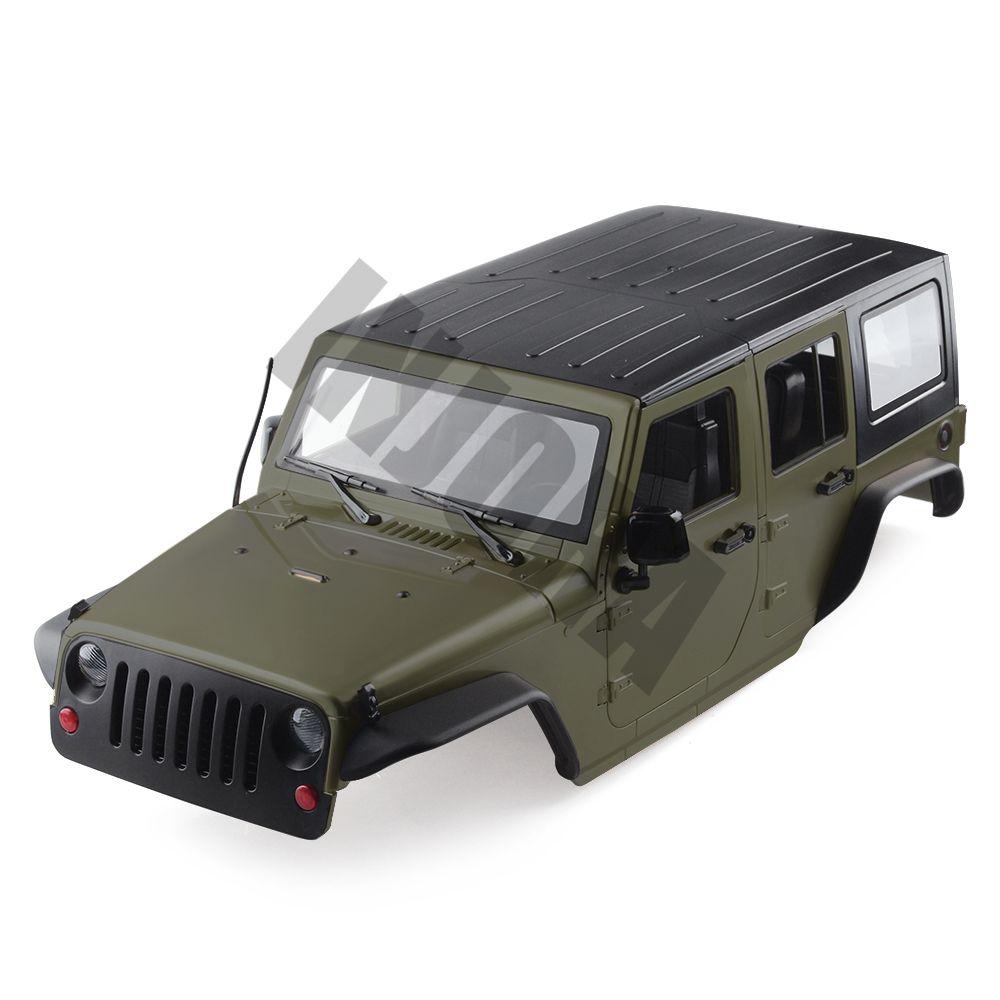 INJORA 8 Farbe Erhältlich 313mm Radstand Jeep Wrangler Körper Shell für 1/10 RC Rock Crawler Axial SCX10 & SCX10 II 90046 90047
