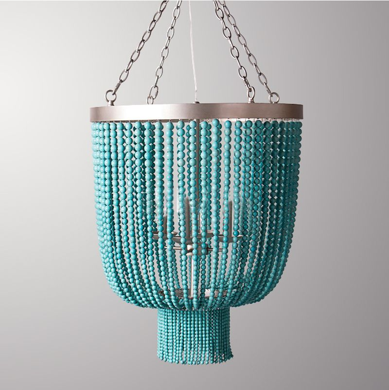 Phube Lighting Retro Turquoise Chandelier Light Villa Bedroom Restaurant Chandelier Lustre Light Home Lighting