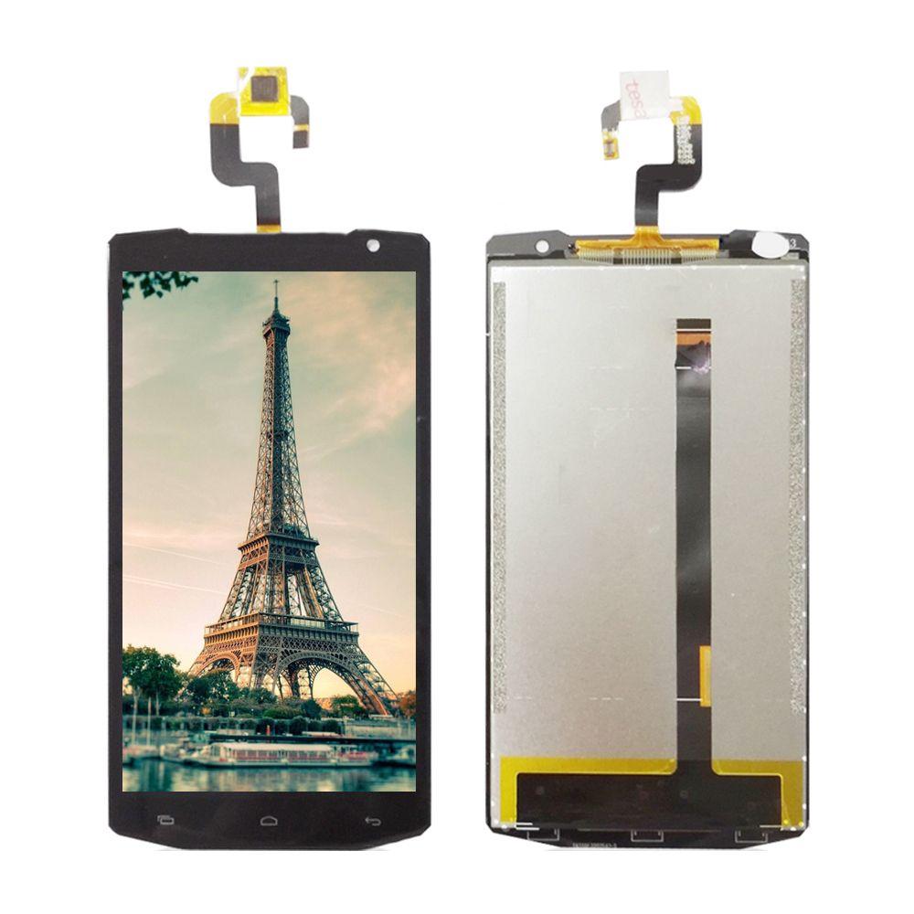 5.5 pour oukitel k10000 k 10000 noir lcd display + écran tactile panneau de verre digitizer assemblée remplacement noir
