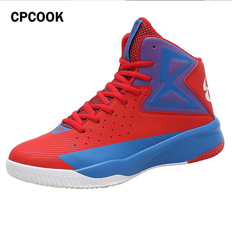 Men's Basketball Shoes Air Damping Men Sports Sneakers High Top Breathable Trainers Leather Shoes Men Outdoor Jordan Shoes