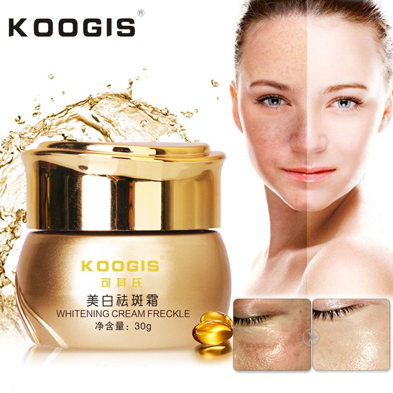 KOOGIS Strong Effects Powerful Whitening Freckle Cream 30g Remove Melasma Acne Spots Pigment Melanin Face Care Cream