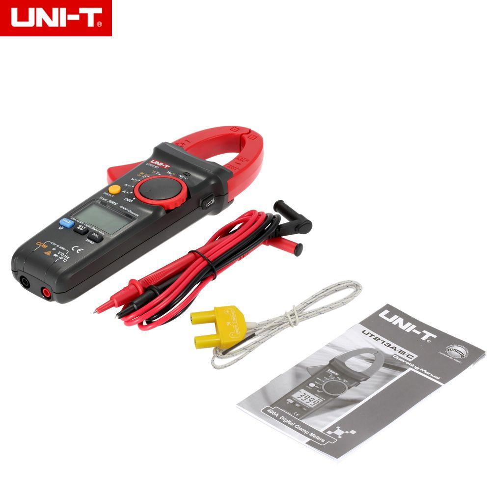 UNI-T UT213C Digital Clamp Meter Multimeter AC/DC 400.0A Voltage Current Resistance Capacitance Diode Continuity NCV Temperature