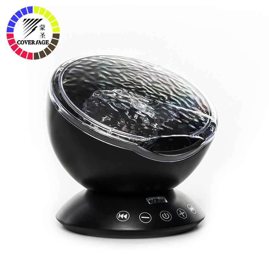 Coversage Ocean Wave Projector LED Night Light With USB Remote Control TF Cards Music Player Speaker Aurora Master Projection