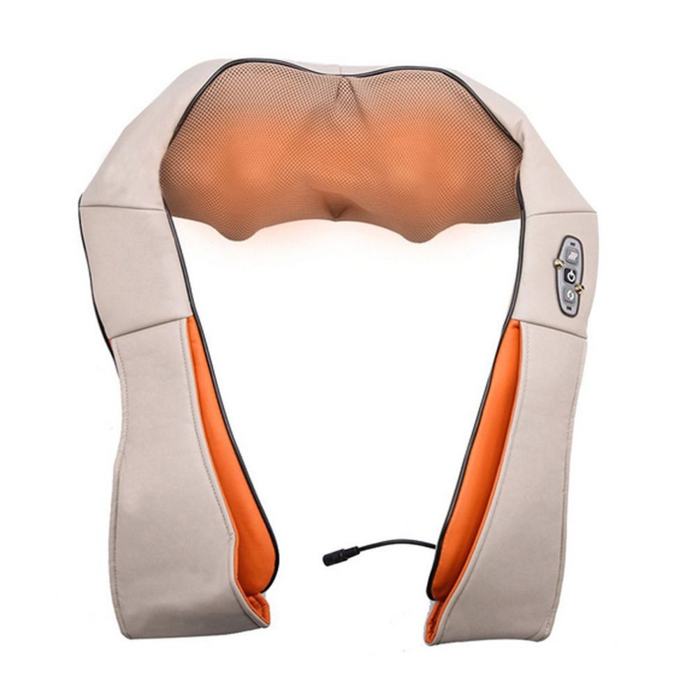 Pro Body Massage Kneading Shawl Vertebra Massage Professional Neck Shoulder Device Car Household Massager 4D Neck Massager <font><b>Tool</b></font>