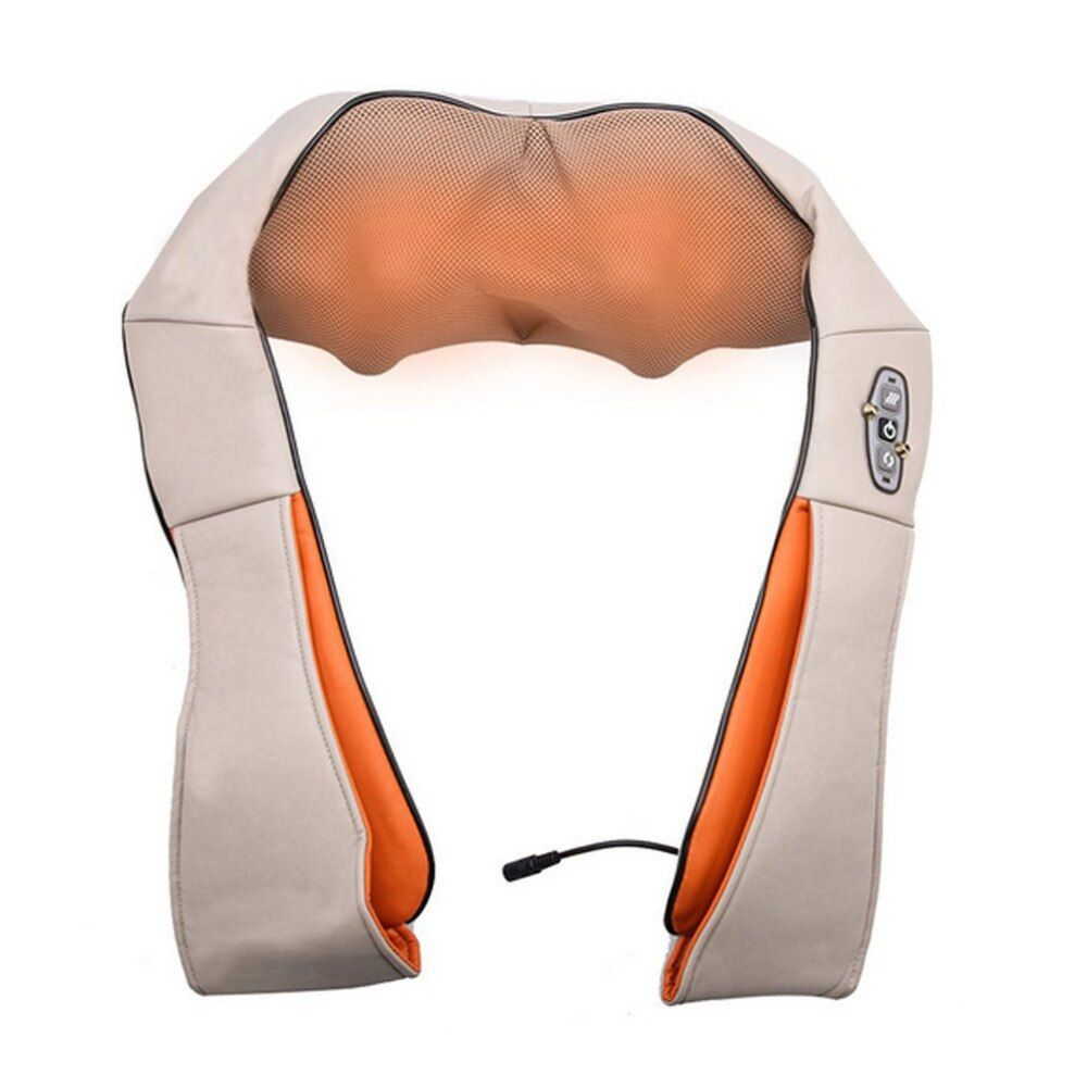 Pro Body Massage Kneading Shawl Vertebra Massage Professional Neck Shoulder Device Car Household Massager 4D Neck Massager Tool