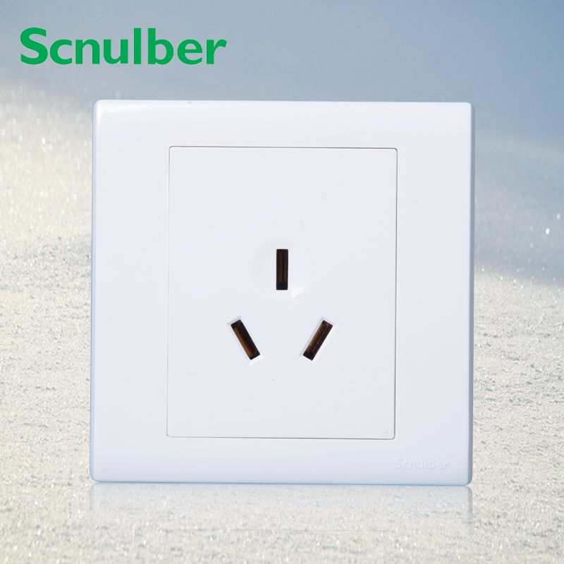86*86mm klimaanlage 250 v power wall panel 3 poles 16A steckdose