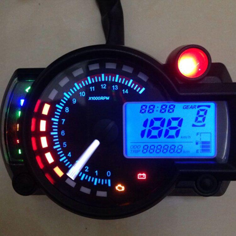 LCD digital dashboard motocross tachometer gauge speedometer of racing motorcycle replacement Refit  sensor C0024 Car styling