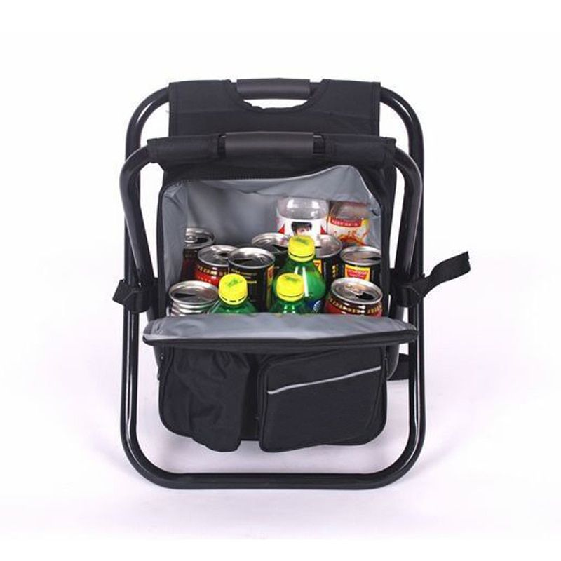 YONTREE 1 Piece Cooler Bag Multi-functional Storage Backpack With Foldable Fishing Chair H9152