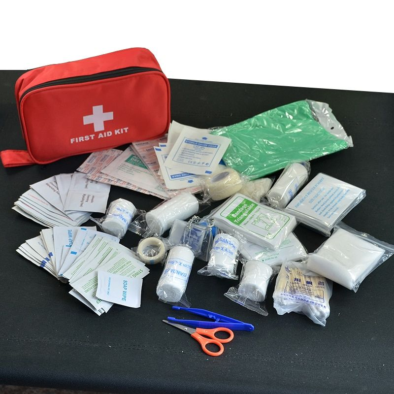 180pcs/pack <font><b>Safe</b></font> Travel First Aid Kit Camping Hiking Medical Emergency Kit Treatment Pack Set Outdoor Wilderness Survival
