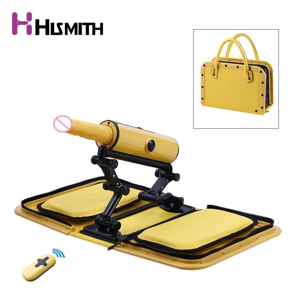 HISMITH Updated Portable Handbag Sex Machine With Vibration Dildo, Automatic Vibrator Gun, Sex Machines for Women, Sex Product