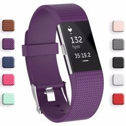 Meilleur prix Bracelet Dragonne Smart Montre de Courroie De Bande Souple Bracelet de Rechange Smartwatch Bande Pour Fitbit Charge 2