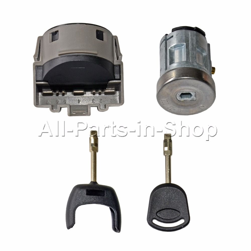 BRAND NEW FOR FORD TRANSIT MK7 S C B-MAX Fiesta Fusion Focus Mondeo Galaxy IGNITION SWITCH & BARREL SET WITH 2 KEYS 2006 ON
