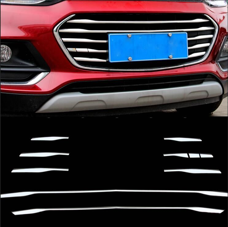 car-styling case for Chevrolet Trax Tracker 2017 Car styling Stainless steel Modification of the net trim cover stickers