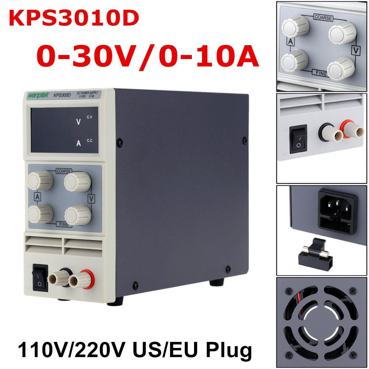 LED Voltage Regulator KPS3010D 110V/220V DC US/EU 0-30V 10A Switching Power Supply Precision Low Ripple/Noise Highly Efficient