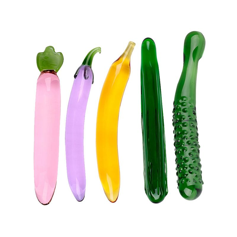 Gode en verre, cristal Pénis Anal Butt Plug Vaginal G-spot Clitoris Masturbation Massager Sex Toys pour Femmes