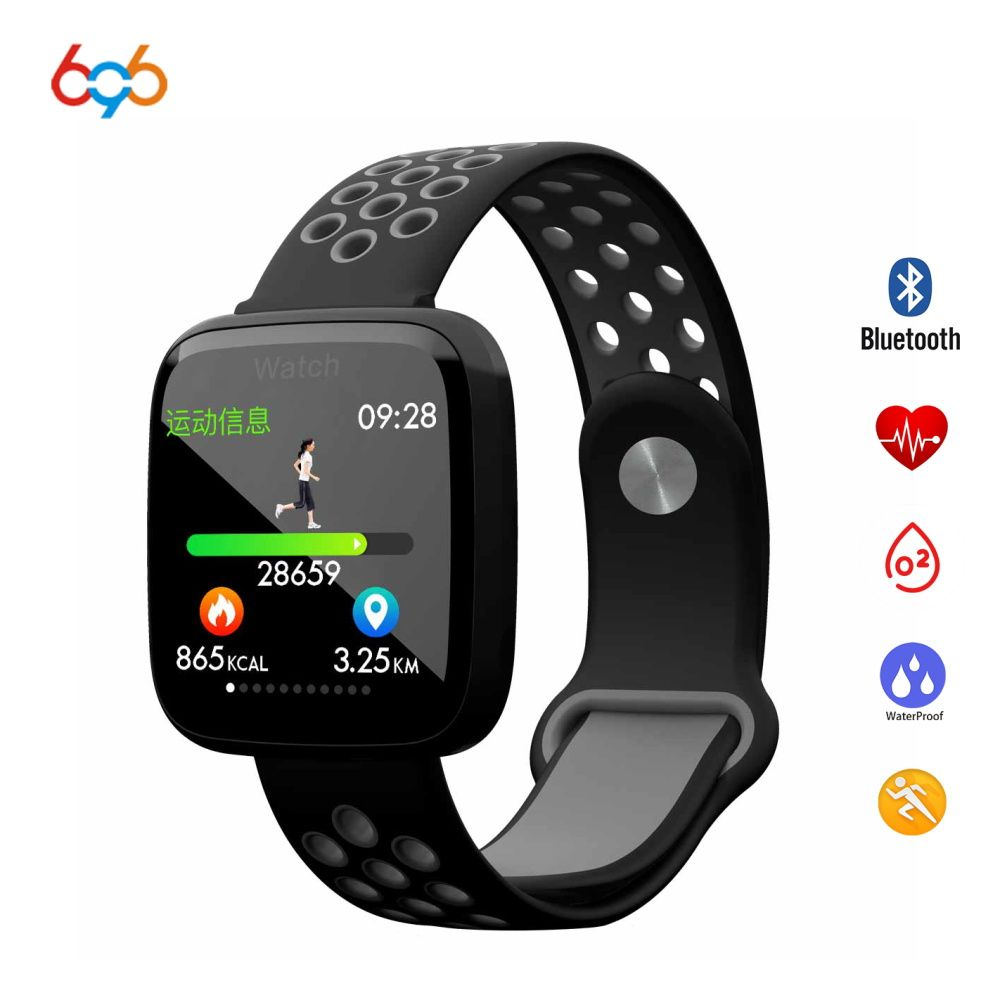 696 F15 Smart Watch IP68 Waterproof Swimming SmartWatch Heart Rate Blood Pressure Blood Oxygen Wristband For Android & IOS