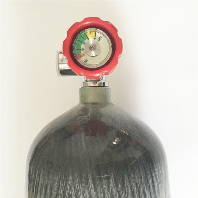 9L 4500 PSI Carbon Fiber CYLINDER for paintball game or air gun hunting+RED VALVE -V