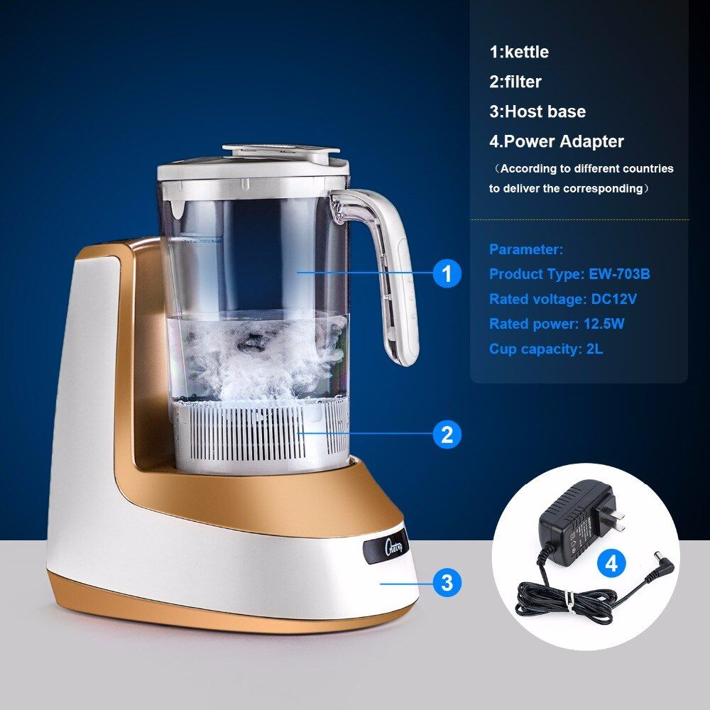 Wasserstoff Wasser Generator Wasserstoff Wasser Maker Alkalische Wasser Ionisator Wasserkocher 2000 ml GESUNDHEIT PFLEGE PRODUKT 100-240 v