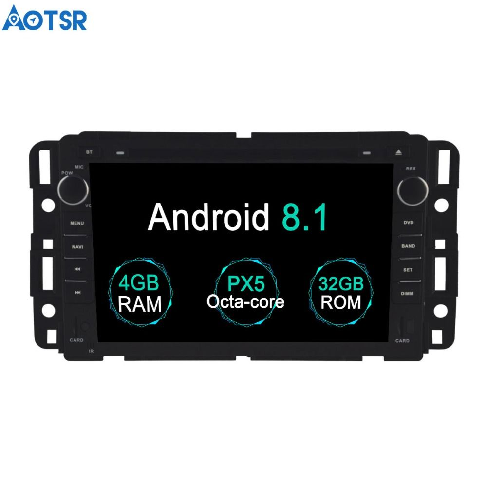 Aotsr Android 8.1 GPS navigation Auto DVD Player Für GMC Yukon Tahoe 2007-2012 multimedia 2 din radio recorder 4 GB + 32 GB 2 GB + 16 GB