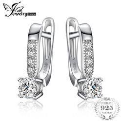 Jewelrypalace 1ct Клипсы 925 Серебряная свадьба Юбилей украшения для Для женщин модные вечерние подарок
