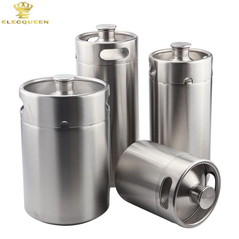 Homebrew Growler Mini Keg Stainless Steel Keg Style Beer Growler mini beer keg 2L/3.6L/4L/5L for you choice