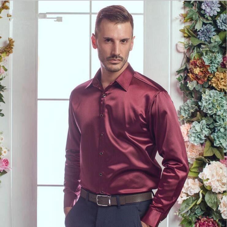 Mens shirts big size männer Sehr gute qualität langarm velvet seide hemd herbst winter männer warme kultivieren hemd