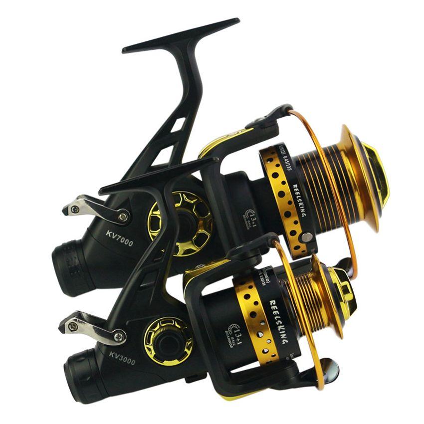 Metal Head Fishing Reels Spinning Reels 13+1BB Back Brake Spinning Fishing Surf Reel Carp Front Rear Drag Brake Saltwater