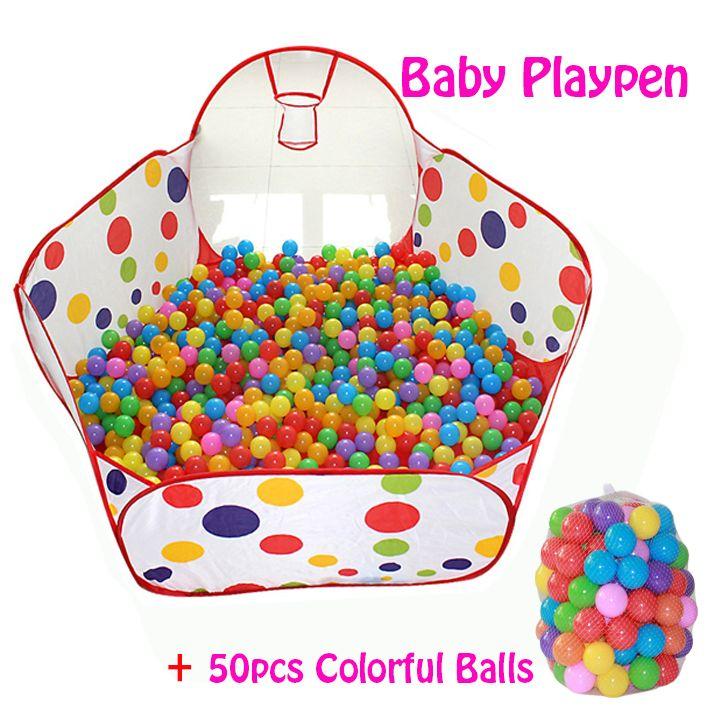50 pcs Boules + Extérieur/Intérieur Bébé de Parcs Pour Enfants Pliable Enfants Piscine À Balles Activité et Vitesse Tente clôtures Corralito 0.9 1.2 1.5