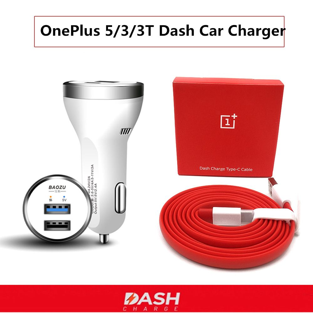 Oneplus 6 dash Car charger 4.5A Quick Fast dual usb car lighter slot charge poewr adapter For oneplus 5 5t 3t 3 smartphone