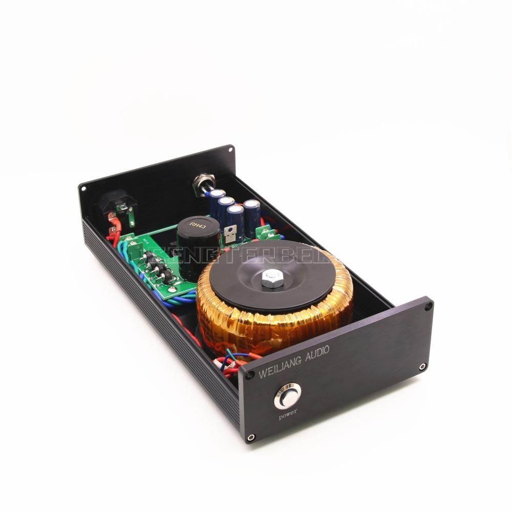 Black 120VA DC Linear Power Supply DC output 5V 9V 12V 15V 18V 24V HiFi PSU Can Choose