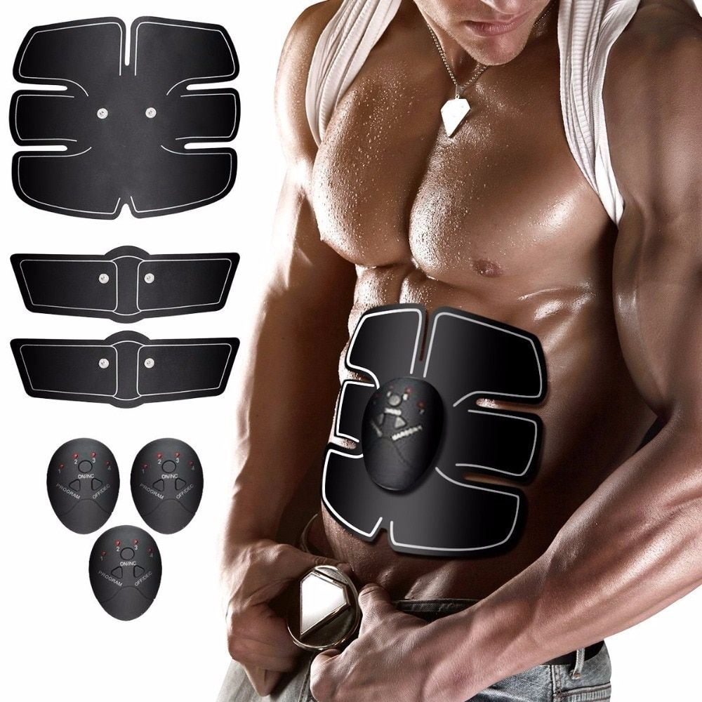 Smart Wireless Electronic Muscle EMS Stimulator ABS Abdominal Muscle Trainer Roller Sticker Slimming Beauty Machine Massager